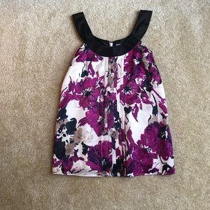 NWOT Ann Taylor petites dressy floral tank
